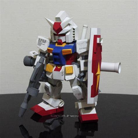 Detailed Sd Rx 78 2 Gundam Ver 10 Free Papercraft