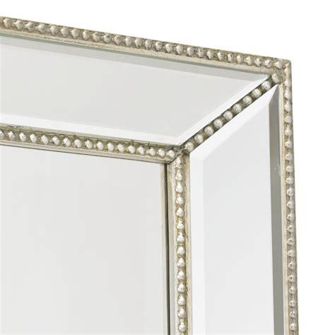 beaded mirror channing silver beaded floor mirror williams sonoma