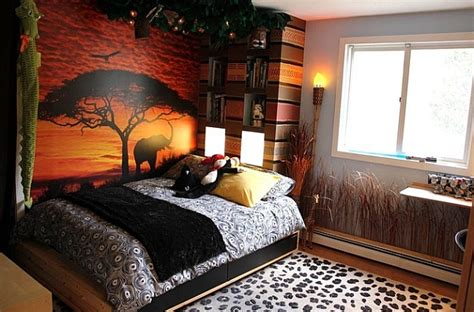 jungle themed room inspired interior design ideas