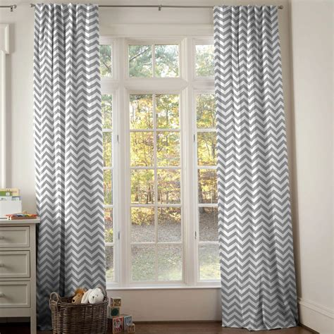 white curtains nursery white and gray zig zag drape panel carousel designs