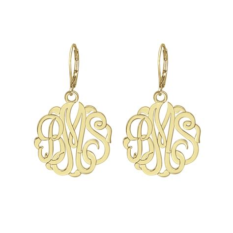 how to make monogram jewelry classic monogram leverback earrings 25mm personalized jewelry