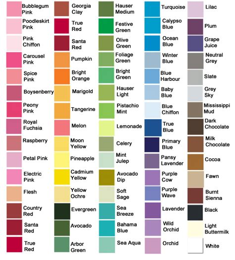 paint color names name alphabet wall letter package