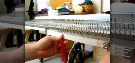 how to cast on a knitting machine how to hang a cast on comb for knitting machines
