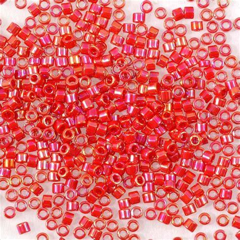 miyuki delica miyuki delica japanese seed bead 11 0 opaque coral ab