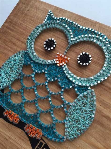 string crafts for owl string 45 00 custom made to order 12 quot x11
