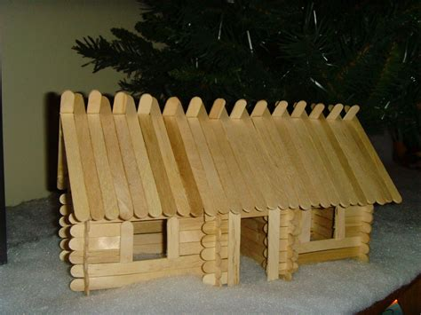craft sticks projects lincoln sticks popsicle stick log cabins