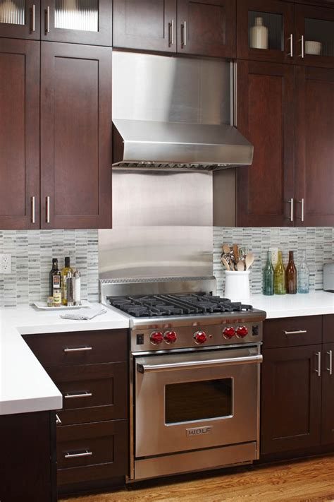kitchen backsplash for cabinets stainless steel backsplash tiles kitchen contemporary with