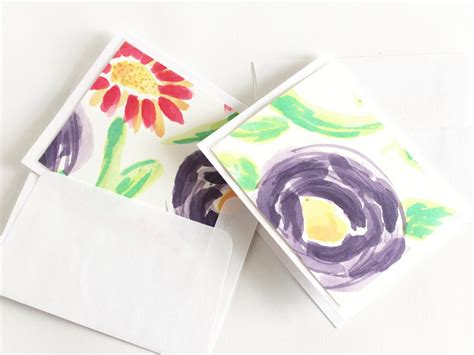 how to make watercolor cards make your own watercolor note cards hgtv