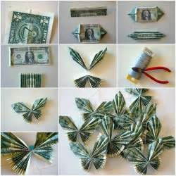 money origami butterfly butterfly money paper folded paper wall decorations