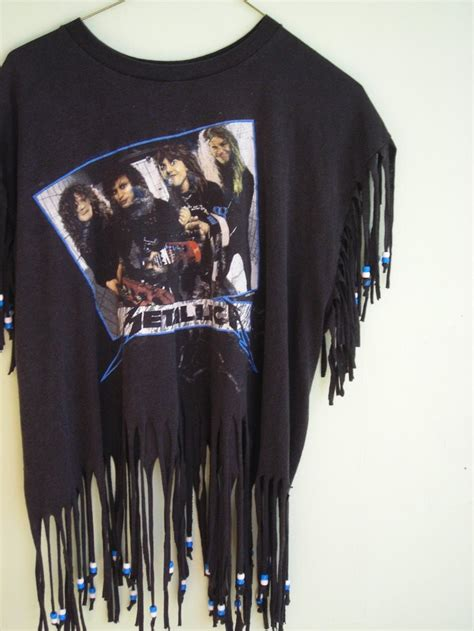 how to fringe and bead a shirt fringe t shirt w the 80 s