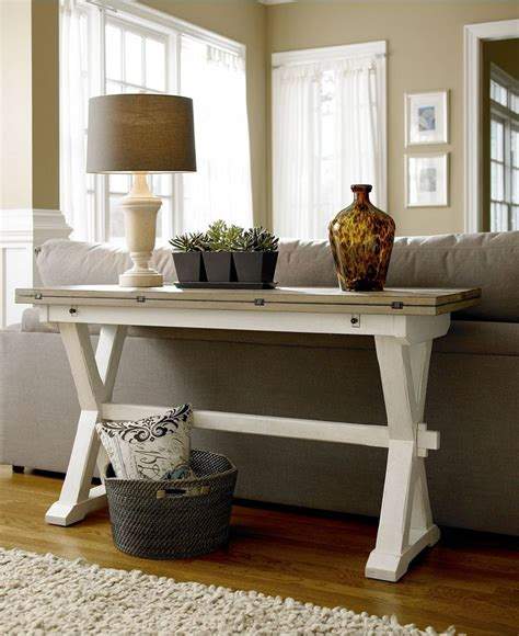 how to use a sofa table versatile console table with a fold out leaf use as a