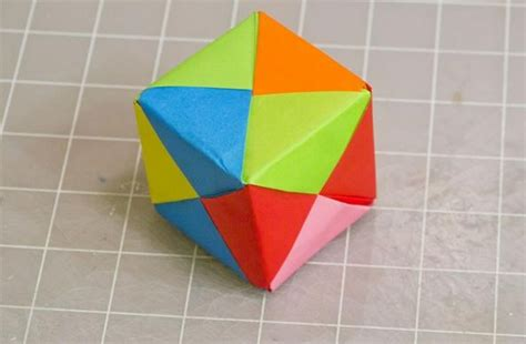 how to make origami things easy modular origami how to make a cube octahedron