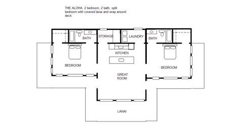 split floor plan the aloha 2 2 split bedroom floor plan