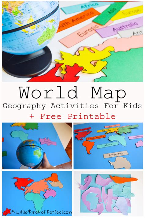 geography crafts for printable map activities printable maps