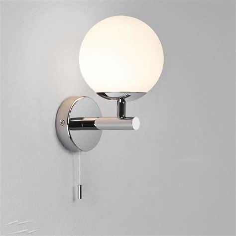 bathroom wall lights with pull cord polished chrome ip44 bathroom wall light with pull cord