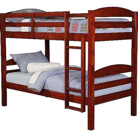 mainstays bunk bed mainstays wood bunk bed walmart