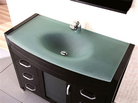 waterfall bathroom vanity 48 quot waterfall single bath vanity glass top bathgems