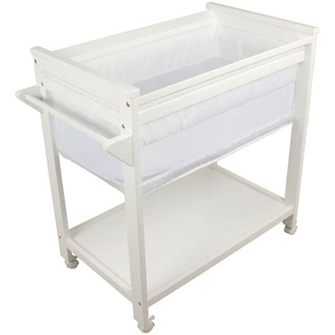 baby cribs bassinets bebe care wooden baby bassinet crib in white buy baby
