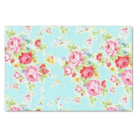 floral craft paper vintage floral tissue paper zazzle