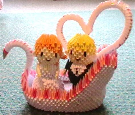 3d origami wedding 17 best images about origami 3d on quilling