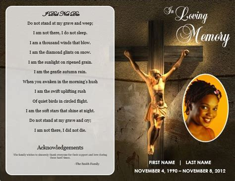 how to make funeral cards jesus cross bifold funeral card template for funeral