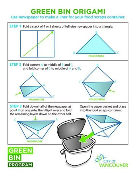 origami garbage bin on how to make a newspaper origami compost