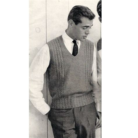 mens knit mens sweater vest knitting pattern this is a pullover