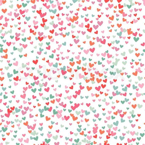 romantic pink and blue heart seamless pattern vector