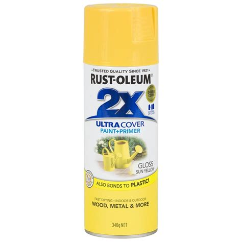 spray paint yellow rust oleum 340g ultra cover 2x gloss spray paint sun yellow