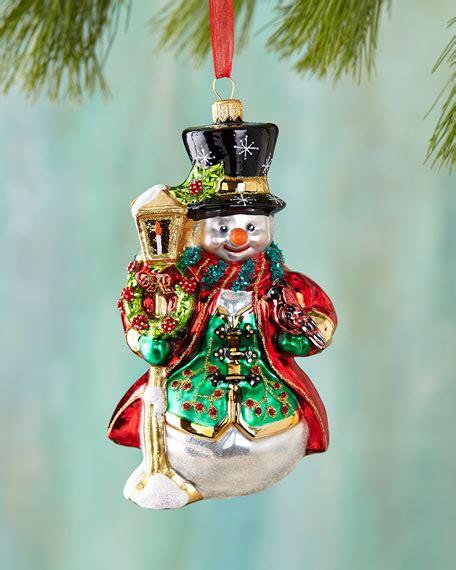 lantern ornaments snowman with lantern ornament