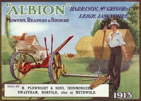 sons of albion book pictures albion mower reaper and binder catalog book or phlet