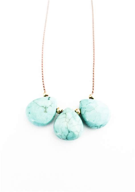 cord jewelry turquoise silk cord necklace turquoise necklace by
