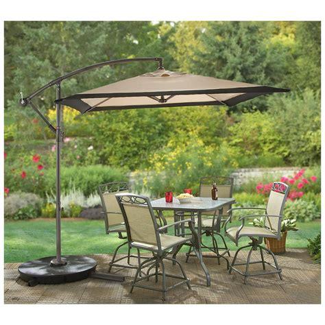 patio umbrellas cantilever castlecreek square cantilever patio umbrella khaki