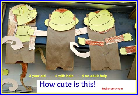 paper bag monkey craft make a paper bag monkey puppet with your preschoolers