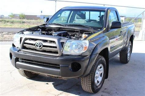 sell used 2009 toyota tacoma regular cab damaged salvage runs economical priced to sell in