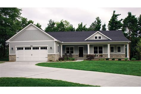 house plans ranch with walkout basement open plan ranch with finished walkout basement hwbdo77020