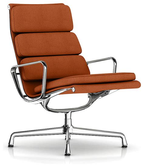 Eames Soft Pad Lounge Chair by Eames Soft Pad Lounge Chair Swivel Base Fabric