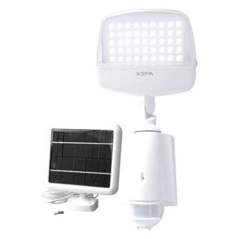 home depot solar motion lights xepa solar powered outdoor white led light with motion