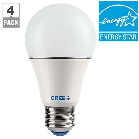 led white light bulb cree connected 60w equivalent soft white a19 dimmable led