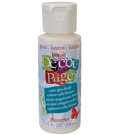 decoupage glue decoart americana decoupage glue 2 oz gloss jo