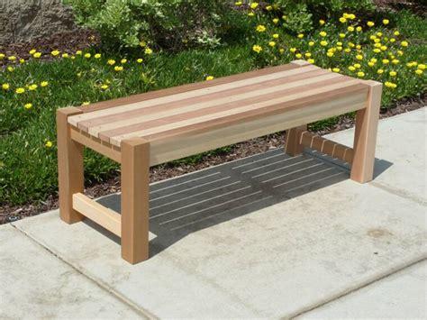 Wooden Garden Bench Design Plans
