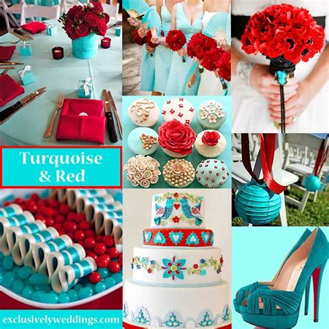 what goes with what color goes with turquoise for a wedding style
