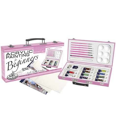 acrylic painting kit for beginners royal brush pink for beginners artist set acrylic