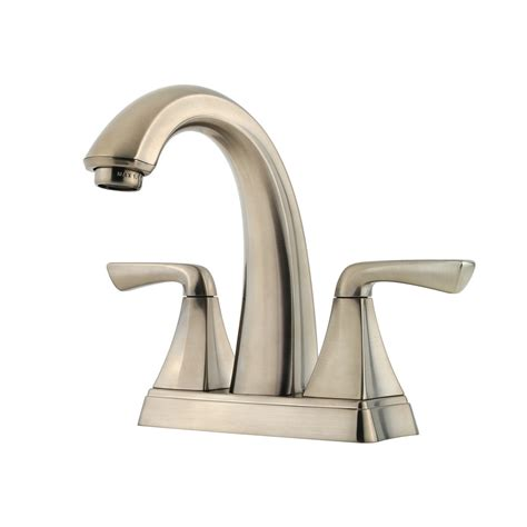 kitchen sink faucets at lowes shop pfister selia brushed nickel 2 handle 4 in centerset