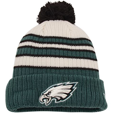 eagles knit hat new era philadelphia eagles midnight green traditional