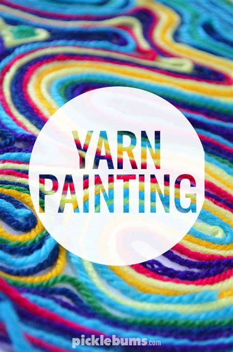 painting crafts for yarn painting picklebums