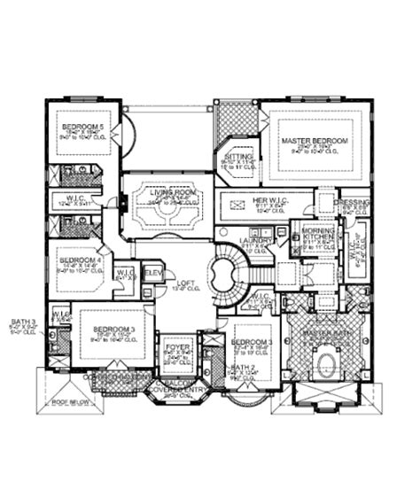 8 bedroom house floor plans mediterranean style house plan 7 beds 8 5 baths 7883 sq