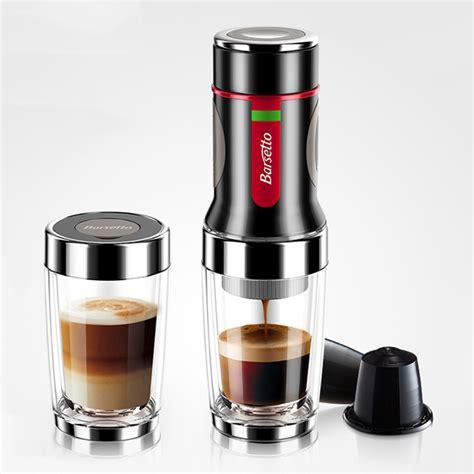 Barsetto Portable Hand Press Coffee Maker Mini Handheld Espresso Pods Coffee Cap   eBay