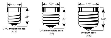 c7 bulb size bulb socket guide