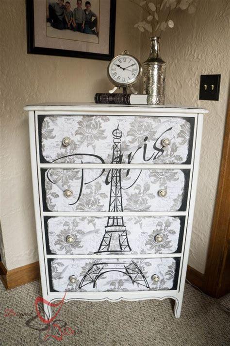 vintage decoupage furniture eiffel tower dresser decoupage maison blanche vintage